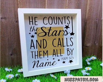 Psalm 147.4  Box Frame