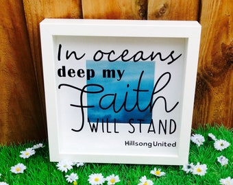 Decorative Bible Verse Shadow Box Frame, Hillsong United
