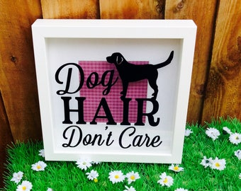 Funny Dog Quote, Shadow Box Frame