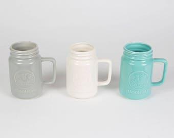 Pastel Mason Drinking Jar