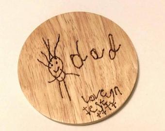 Children's drawing coaster