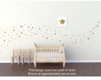 141 Matte or Soft-Metallic Fat Star vinyl wall decals