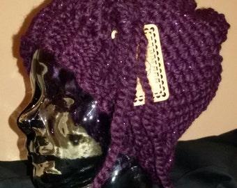 Deep purple sparkle hat
