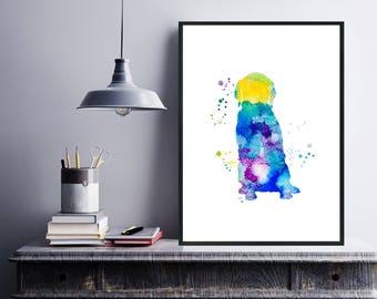Pet Dog Poster, Dog Decor, Dog Art Print, Watercolor Nursery Print, Abstract Dog Print, Watercolor Pet Print, Instant Download Printable Art