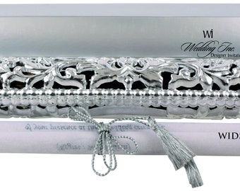 Scroll Invitation, Royal, Ethnic & Elegant Design, Tassel, Wooly paper, Engagement, Save the Date, Wedding, Bridal Shower, Anniversary