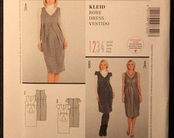 0e0d8122583a5 Burda Pattern 7320 Future Mama Misses' Maternity Dress in Sizes  12-14-16-18-20-22-24