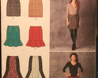 a546eb7df4 Simplicity Pattern 1321 P5 In K Designs Misses' Pencil, Flounce & Flared  Skirts in Sizes 12-14-16-18-20