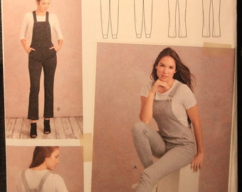 322980abee7 Simplicity Pattern 8855 H5 Misses  Knit Bib Overalls in Sizes 6-8-10-12-14