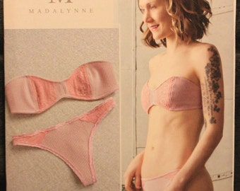 39f329ffca543 Simplicity Pattern 8437 Madalynne Flanigan Designs Misses  Strapless Bra  and Panties All Sizes
