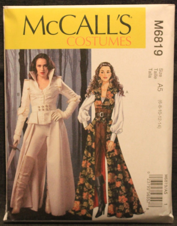 McCalls 7641 Cosplay Jacket with Belt Costume Misses New//Uncut