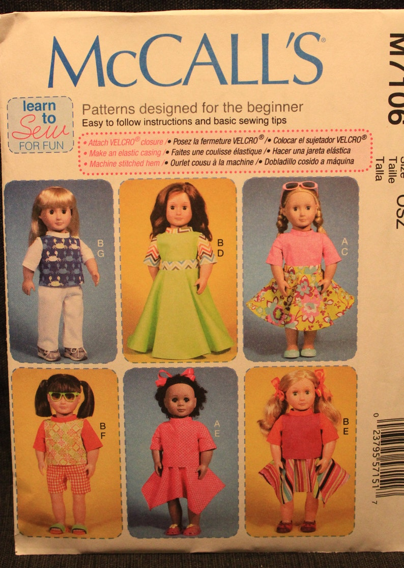 Accessories /& Dog McCalls Crafts Sewing Pattern 6669 Doll Clothes McCal...