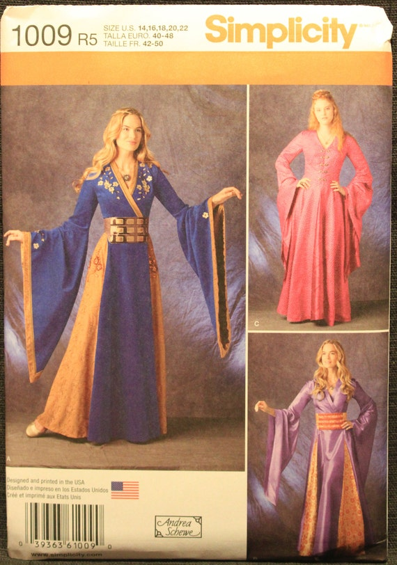 Simplicity Sewing Pattern 1009 Misses Fantasy Costumes