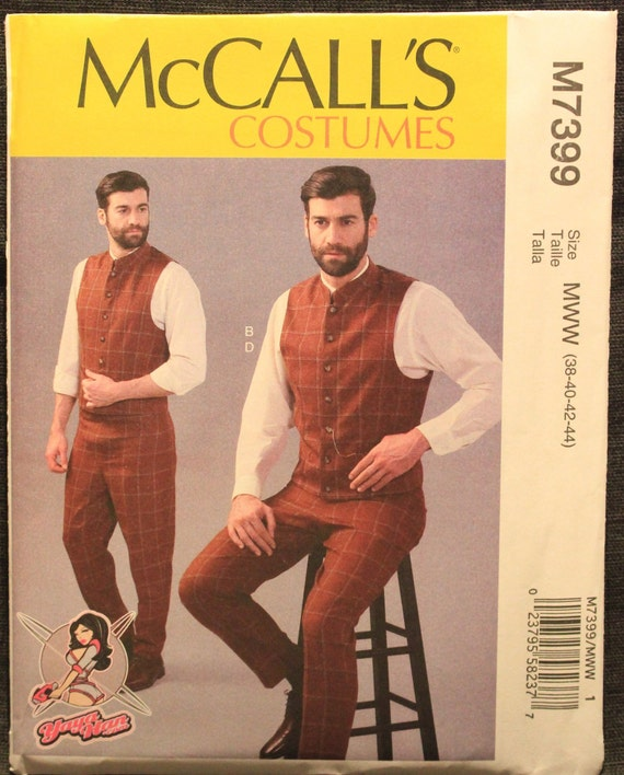 McCall/'s 7646 Sewing Pattern to MAKE Tunic Top Capelet Belt /& Gauntlets Cosplay