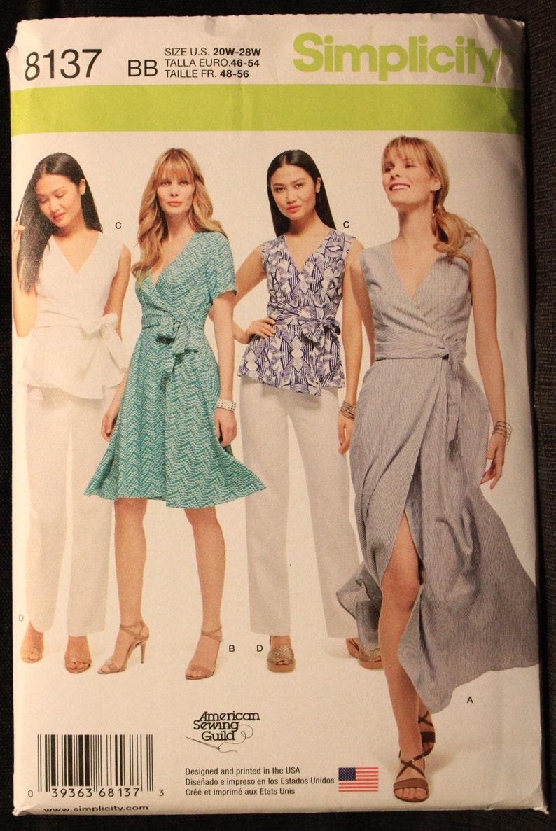 28w us # 8051 Fron UK Sewing Pattern Misses/' /& Women/'s Dress Size 20w
