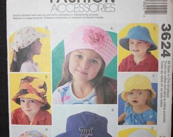 McCalls 3624   Fashion Accessories Hats