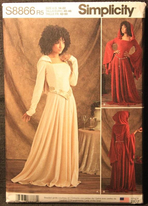 Simplicity Sewing Pattern extraña Cosplay Disfraz De punto vestidos 8866