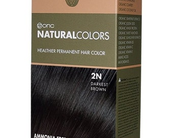 ONC NATURALCOLORS 2N Darkest Brown Hair Dye with Organic Ingredients