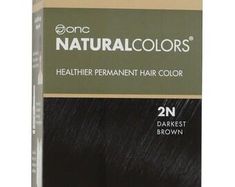 ONC NATURALCOLORS 2N Darkest Brown Hair Dye with Organic Ingredients
