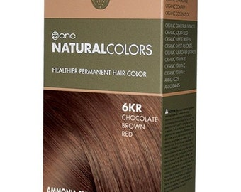 ONC NATURALCOLORS 6KR Chocolate Brown Red Hair Dye with Organic Ingredients