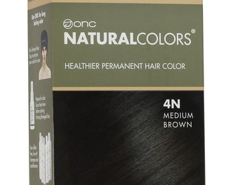 ONC NATURALCOLORS 4N Natural Medium Brown Hair Dye with Organic Ingredients