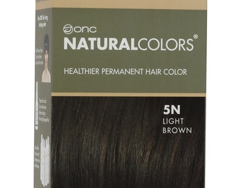 ONC NATURALCOLORS 5N Natural Light Brown Hair Dye with Organic Ingredients