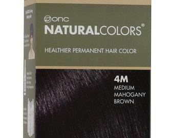 ONC NATURALCOLORS 4M Medium Mahogany Brown Hair Dye with Organic Ingredients