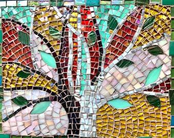Mosaic Picture ; Mosaic wall art; Tree art; Unique gift idea; Home decor