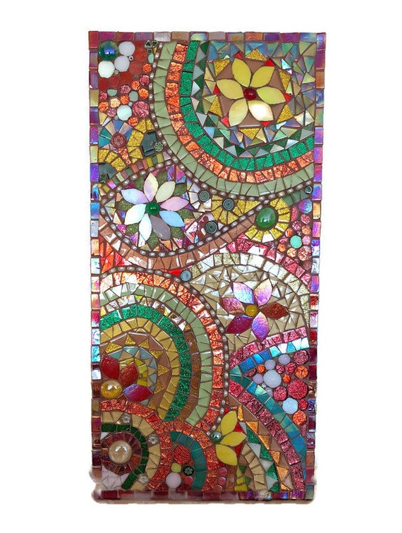 Abstract Mosaic Picture; Handmade Wall Art; Unique gift idea; Home decor