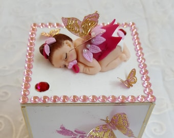 Baby girl's piggy bank - in the heart of the arts