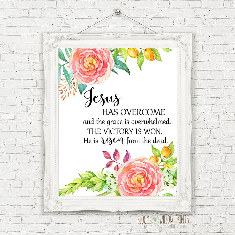 photograph about He is Risen Printable known as He Is Risen Printable/Easter Print Watercolor Bouquets/Christ Is Risen Easter Print/Non secular Easter/He Is Risen Print/8x10/16x20/5x7/A4