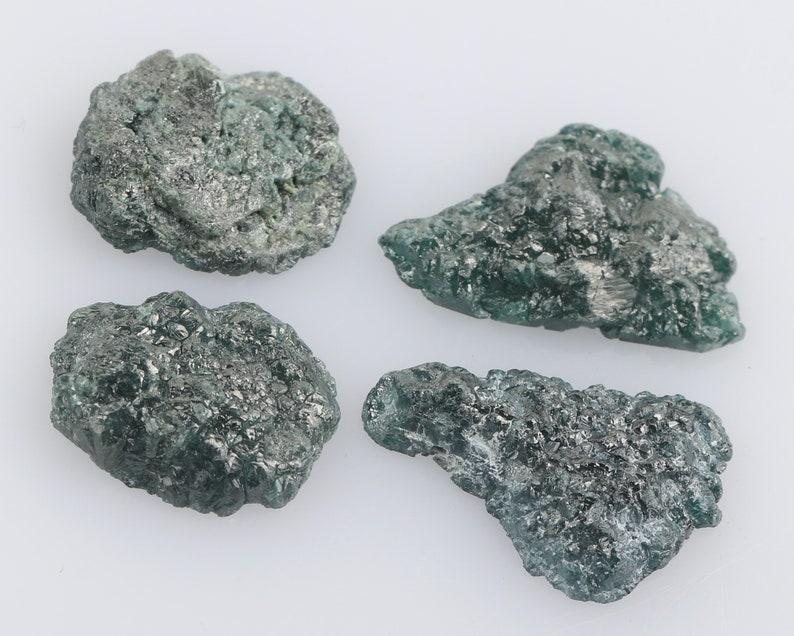 Loose Druzy Raw Diamond Rough Blue Color I3 Clarity Rough Raw Uncut Diamond DG3669 Treated Rough Gifts 12.23 Ct 15.0 X 10.0 X 3.0 MM