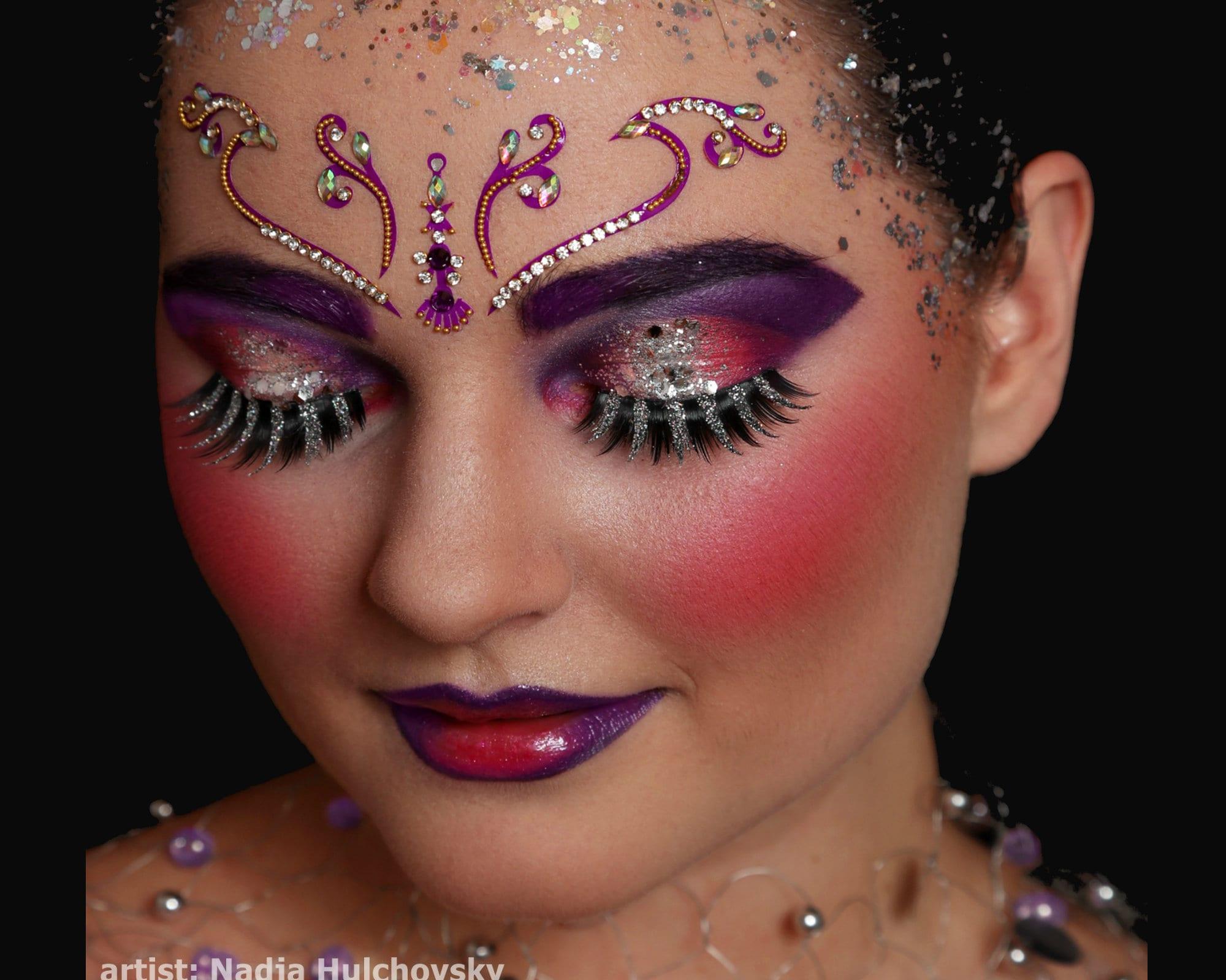 Fluorescent Face JEWEL Stick on Body Art UV BINDI Pack-Rave FESTIVAL FACE GEMS