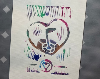 """11-20 Topgolf Cares """"Heart Shield"""" limited edition prints #11-20"""