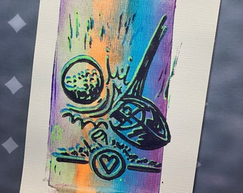 """31-35 Topgolf Cares """"Tee Time"""" limited edition prints #31-35"""