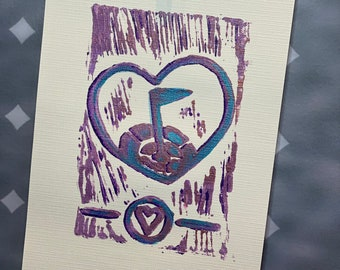 """21-30 Topgolf Cares """"Heart Shield"""" limited edition prints #21-30"""