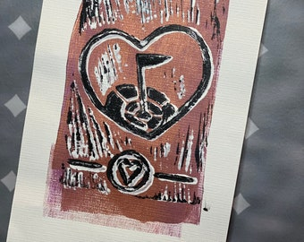 """31-35 Topgolf Cares """"Heart Shield"""" limited edition prints #31-35"""