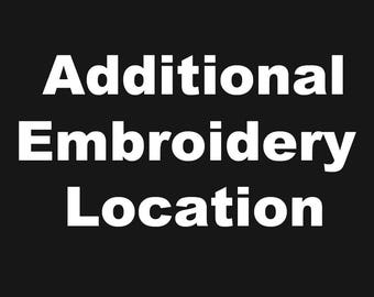 Additional Embroidery Location Add on