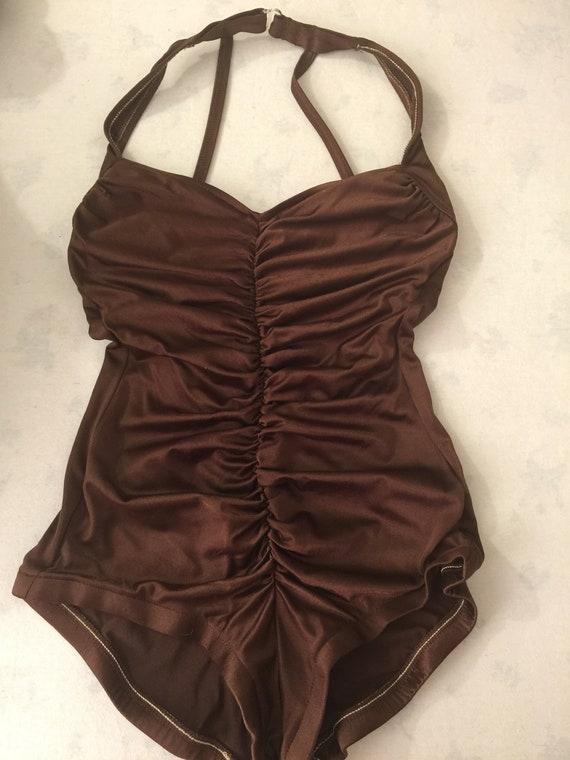 Stunning Robby Len Vintage Silky Brown Metallic On