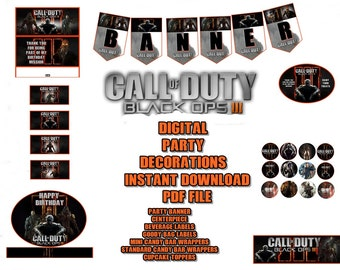 Call of duty etsy call of duty black opts 111 digital party decorations banner centerpiece and more filmwisefo