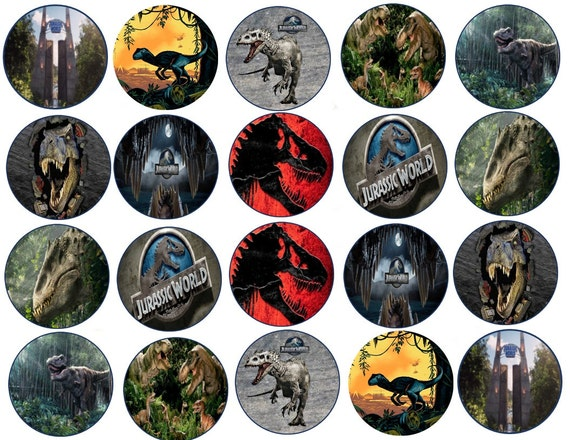 Jurassic World Edible Images Cupcake Cookie Toppers
