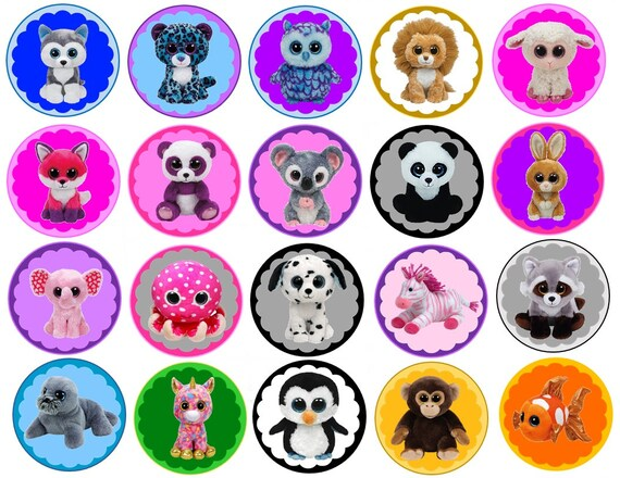 Beanie Boo Babies Edible Images Cupcake Cookie Toppers  871f091aeb7