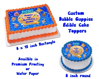 Bubble Guppies  Edible Images Cake topper
