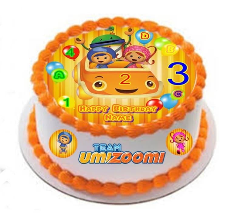 Awe Inspiring Team Umizoomi Custom Edible Image Cake Topper Etsy Personalised Birthday Cards Arneslily Jamesorg