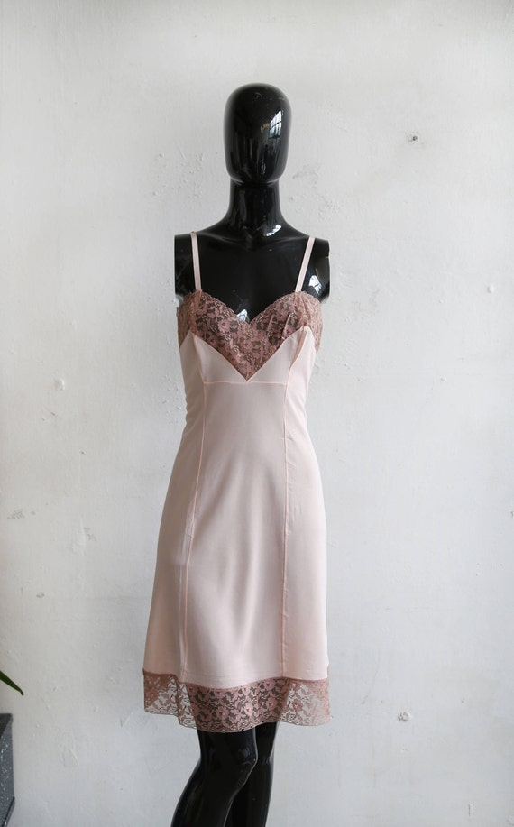 Vintage soviet underwear petticoat - beige lace un