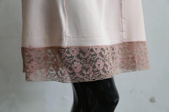 Vintage soviet underwear petticoat - beige lace u… - image 6