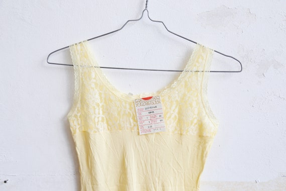 Vintage Soviet girls teens underwear petticoat yel
