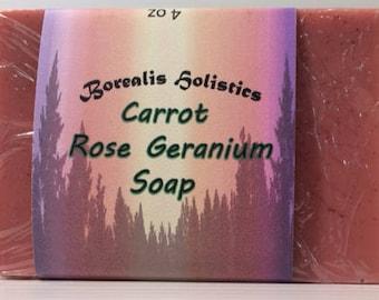 Carrot Rose Geranium Soap