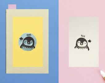 Bookplate Penguin