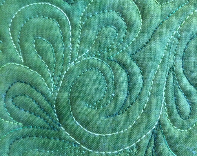 Personalized Quilting Services, Free Motion Quilting Services, Custom Quilting for Your Finished Quilt Top