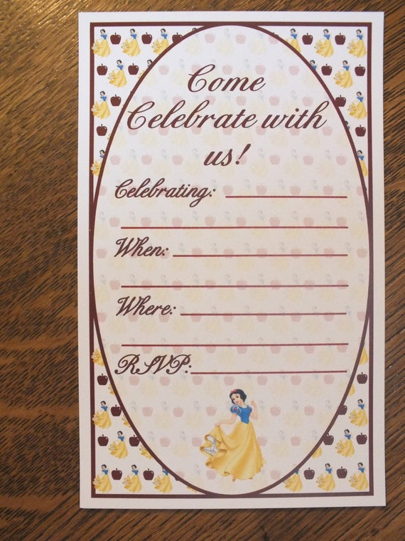 It's just a picture of Snow White Invitations Printable for 21st birthday